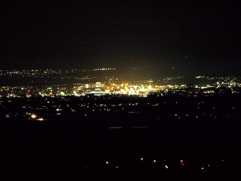 会津盆地夜景