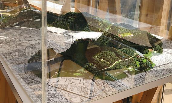 信夫山のジオラマ